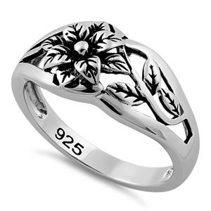 Jewelry - 925  Genuine Sterling Silver Flower Ring